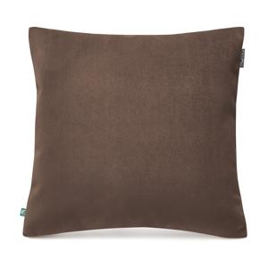 Hnedá obliečka na vankúš zamatovým povrchom Mumla Velvet, 45 x 45 cm