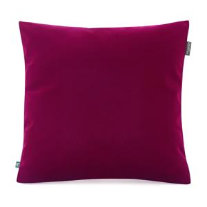Burgundsky červená obliečka na vankúš so zamatovým povrchom Mumla Velvet, 45 x 45 cm