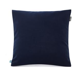Námornícky modrá obliečka na vankúš so zamatovým povrchom Mumla Velvet, 45 x 45 cm