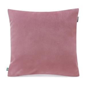 Ružová obliečka na vankúš so zamatovým povrchom Mumla Velvet, 45 x 45 cm