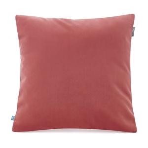 Lososovoružová obliečka na vankúš so zamatovým povrchom Mumla Velvet, 45 x 45 cm