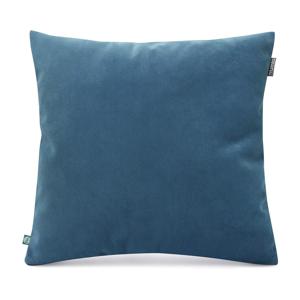 Modrá obliečka na vankúš so zamatovým povrchom Mumla Velvet, 45 x 45 cm
