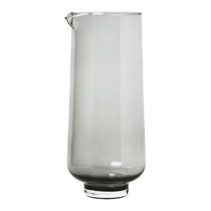 Čierna sklenená karafa na vodu Blomus Flow,1,1l
