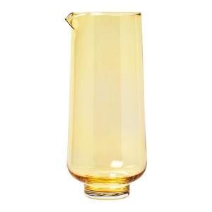 Žltá sklenená karafa na vodu Blomus Flow,1,1l
