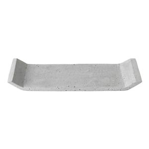 Sivý dekoračný podnos Blomus Stone,30x12,5cm