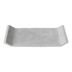 Sivý dekoračný podnos Blomus Stone,30x20cm