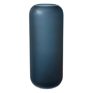 Modrá sklenená váza Blomus Bright,výška30cm