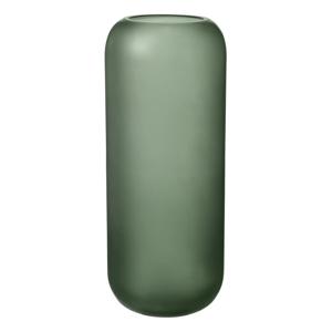 Zelená sklenená váza Blomus Bright,výška30cm