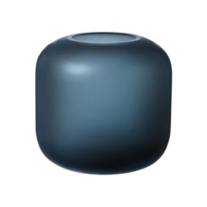 Modrá sklenená váza Blomus Bright,výška17cm