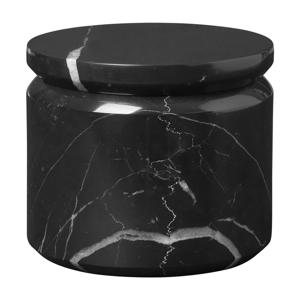 Čierna mramorová úložná dóza Blomus Marble,ø9 cm