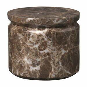 Hnedá mramorová úložná dóza Blomus Marble,ø9cm