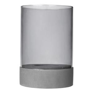 Sivý svietnik s betónovým podstavcom Blomus Concrete