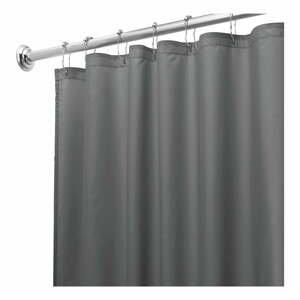 Sivý sprchový záves iDesign, 180 x 200 cm