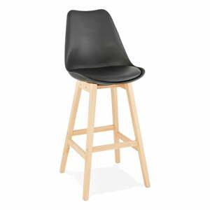 Čierna barová stolička Kokoon April, výška sedu 75 cm