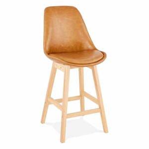 Hnedá barová stolička Kokoon Janie Mini, výška sedu 65 cm