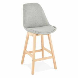 Sivá barová stolička Kokoon QOOP Mini, výška sedu 65 cm