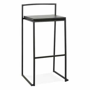 Čierna barová stolička Kokoon Caro, výška sedenia 75 cm