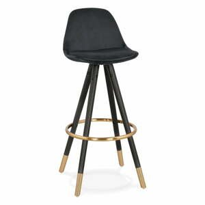 Čierna barová stolička Kokoon Carry, výška sedenia 75 cm