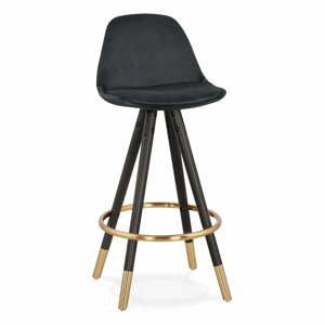 Čierna barová stolička Kokoon Carry Mini, výška sedenia 65 cm