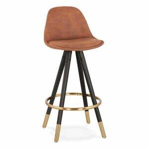 Hnedá barová stolička Kokoon Bruce Mini, výška sedenia 65 cm