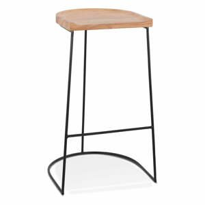 Prírodná barová stolička Kokoon Nallu, výška sedenia 79,5 cm