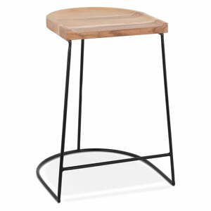 Prírodná barová stolička Kokoon Nallu Mini, výška sedenia 64,5 cm