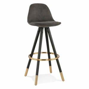 Čierna barová stolička Kokoon Bruce, výška sedenia 75 cm