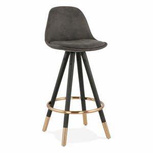 Sivá barová stolička Kokoon Bruce Mini, výška sedenia 65 cm