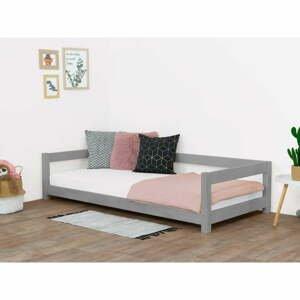 Sivá detská posteľ zo smrekového dreva Benlemi Study, 90 x 200 cm