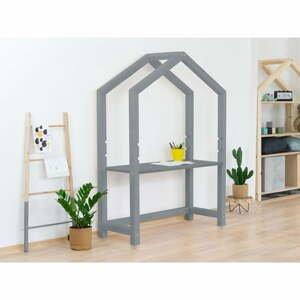 Sivý drevený domčekový stôl Benlemi Stoll, 39 x 97 cm