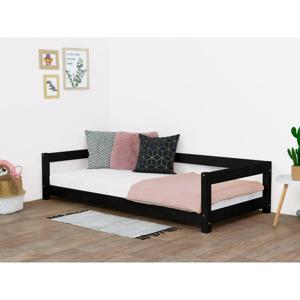 Čierna detská posteľ zo smrekového dreva Benlemi Study, 90 x 160 cm
