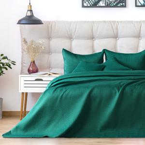 Zelená prikrývka na dvojposteľ DecoKing Carmen, 220 x 240 cm