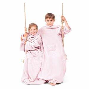 Ružová detská televízna deka s rukávmi DecoKing Lazykids