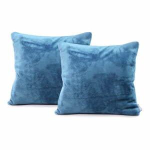 Sada 2 modrých obliečok na vankúš DecoKing Mic, 45 x 45 cm
