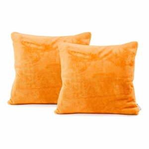 Sada 2 oranžových obliečok na vankúš DecoKing Mic, 45 x 45 cm