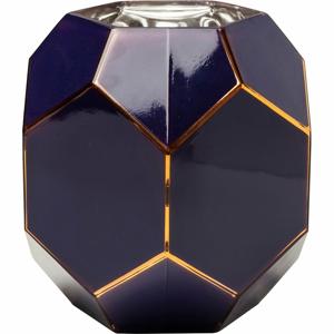 Tmavomodrá sklenená váza Kare Design, výška 22 cm