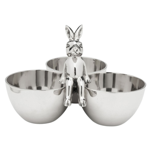 Dekoratívna servírovacia miska v striebornej farbe Kare Design Bunny Tre