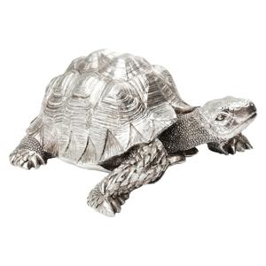 Dekoratívna soška v striebornej farbe Kare Design Turtle