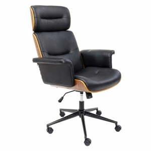 Čierna kancelárska stolička Kare Design Check Out