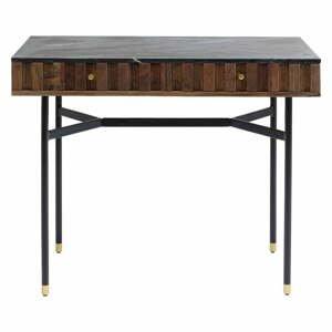 Čierny písací stôl s mramorovou doskou Kare Design Apiano