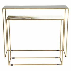 Sada 2 konzolových stolíkov v zlatej farbe Kare Design Charme