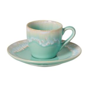 Tyrkysová kameninová šálka na kávu Casafina Taormina, 100 ml