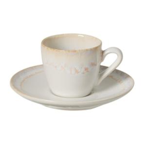 Biela kameninová šálka na kávu Casafina Taormina, 100 ml