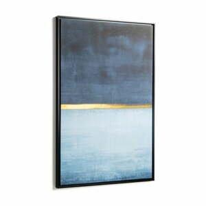 Modrý obraz v ráme La Forma Abstract, 60 x 90 cm