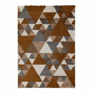 Oranžovo-sivý koberec Flair Rugs Nuru, 160 x 230 cm
