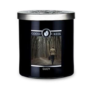 Vonná sviečka v sklenenej dóze Goose Creek Men 'Collection Guilty, 50 hodín horenia
