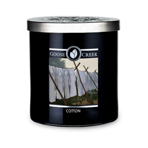 Vonná sviečka v sklenenej dóze Goose Creek Men 'Collection Cotton, 50 hodín horenia
