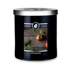Vonná sviečka v sklenenej dóze Goose Creek Men 'Collection Applewood, 50 hodín horenia