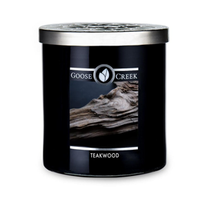 Vonná sviečka v sklenenej dóze Goose Creek Men 'Collection Teakwood, 50 hodín horenia