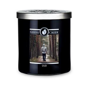 Vonná sviečka v sklenenej dóze Goose Creek Men 'Collection Oud, 50 hodín horenia